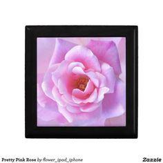 Pretty Pink Rose Trinket Box