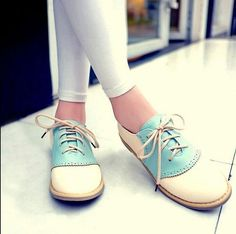 Chic Ladies Women Sweet Oxford Flats Lace Up Round Toe Creeper Shoes Fashion