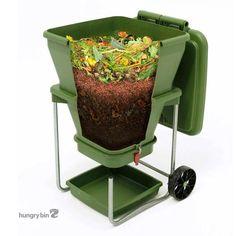 Hungry Bin Wormenbak - Maak zelf compost en tuinvoeding van groenten, fruit en tuinafval in deze slimme compostbak met hongerige wormen.