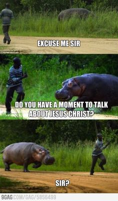 This happen every time I go on visitation! Except I don't even get pas inviting them to church lol