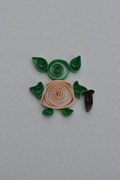Love this Quilled Yoda! #quilling