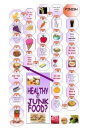 English worksheet: Junk food | ved | Pinterest | Junk food ...