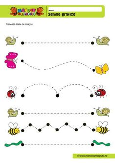 Semne grafice Educational Activities For Kids, Montessori Activities, Busy Bee, Kids Corner, Fine Motor Skills, Crafts For Kids, Preschool, 15 August, Handwriting