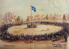 The Battle at the Eureka Stockade was the most significant conflict in Australian colonial history. There had been other small and scattered rebellions, but the gold diggers of Ballarat shaped the character of the country, particularly in Victoria. Melbourne Victoria, Victoria Australia, Eureka Flag, Eureka Stockade, First Fleet, Tourism Website, Houses Of Parliament, Australian Curriculum, Teaching History