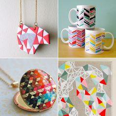 Geometric jewellery, mosaic