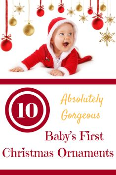 I love researching Christmas gifts and decor and I've come across some truly gorgeous baby's first Christmas ornaments that I've gathered in one place. Newborn Christmas, Baby First Christmas Ornament, Baby Ornaments, Babies First Christmas, Christmas Gifts, Xmas, Christmas Is Coming, Christmas And New Year, Gifts For Pregnant Wife