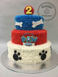 Bolo Do Paw Patrol, Paw Patrol Cake, Paw Patrol Party, 2nd Birthday Party For Boys, Toddler Birthday Cakes, Birthday Drip Cake, Birthday Cookies, Paw Patrol Birthday Theme, Tooth Cake