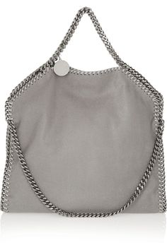 Stella McCartney | Falabella faux brushed-leather shoulder bag  | NET-A-PORTER.COM