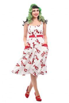 Collectif Mainline Sandrine Rock Lobster Swing Dress