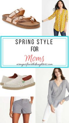 Must have spring style for moms. Check out these cute fashion finds that are perfect for stay at home moms. #fashion #spring #springfashion #springstyle #outfits #mom #sahm #wahm #clothes #sandals
