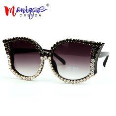c504339ec MONIQUE ORENDA 95126 Fashion Cat Eye Sunglasses Women Luxury Rhinestone Cat  Eye Sunglasses, Sunglasses Women