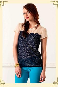 Lace Worthy Top from Francesca's