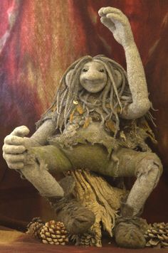 Felted Forest troll boy Made to order.