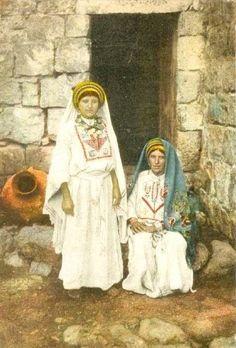 Ramallah-رام الله: Ramallah women in traditional dress, early 20th c.