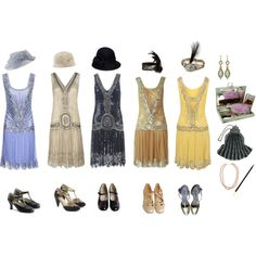 1920s Flappers by queenstormrider on Polyvore