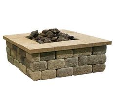 country manor square fire pit