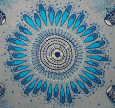 Blue Button Jellyfish (Porpita porpita) - What an awesome work! Jellyfish Art, Microscopic Images, Patterns In Nature, Macro Photography, Bird Feathers, Embroidery Patterns, Floral Design, Tapestry, Colours