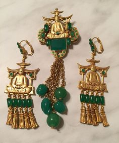 See this Instagram photo by @jewellerydreams • 39 likes Vintage 1960's necklace and earrings