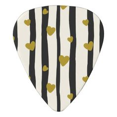 Romantic Valentines Gold Love Guitar Picks - home gifts ideas decor special unique custom individual customized individualized