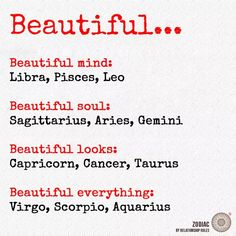 Well I like this one... Since I fall under Libra and Virgo , I get them all plus and extra helping of a beautiful mind.  Yeah me!