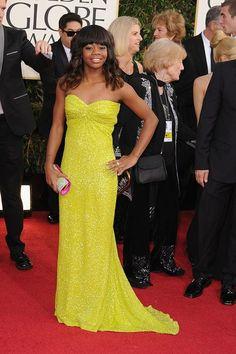 Gabrielle Douglas at the Golden Globe Awards 2013 #RedCarpet #GoldenGlobes