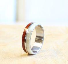 Antler men ring wood and stainless steel ring unisex ring by RingsDepot on Etsy https://www.etsy.com/listing/211397860/antler-men-ring-wood-and-stainless-steel
