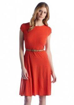 Perceptions  Short Sleeve Belted Dress