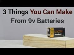 Battery Reconditioning - 3 Things You Can Make From 9v Batteries - Save Money And NEVER Buy A New Battery Again