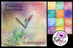 "TextureFX: Gelato Grunge (12""sq) Graphics This fine art texture set includes 12 high resolution textures 3600px x 3600px (12¡åx12¡å) @ 300ppi by PhotoArtFX"
