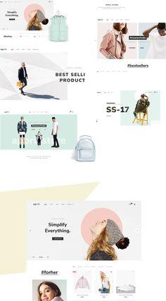 April - Ecommerce Colorful Wordpress Theme on Behance