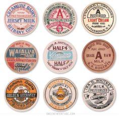 30 Vintage Milk Caps
