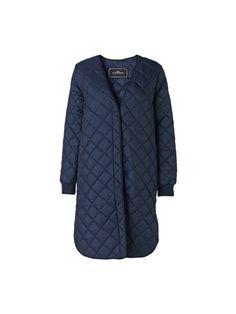 Raviola long blue quilted jacket - # Q56295001 - By Malene Birger Autumn Winter 2014 - Women's fashion