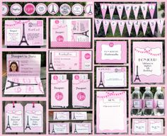 PASSPORT TO PARIS Printable Party Collection
