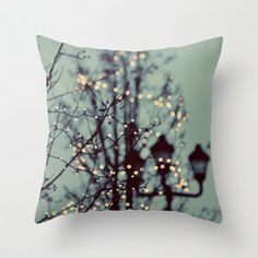 Pillow Cover Winter Lights Paris Style Tree Lights by ellemoss, $36.00