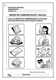 Apostila da Educação Infantil Nível I e II Means Of Communication, Media Communication, Montessori Kindergarten, Preschool Activities, English Worksheets For Kids, Kindergarten Worksheets, Transportation For Kids, Kids And Parenting, Teaching