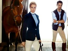 www.pegasebuzz.com | Equestrian fashion : David Gandy and Carolyn Murphy for Massimo Dutti, fall 2013