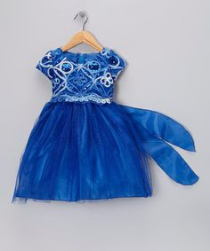 Take a look at this Royal Blue Sequin Overlay Dress - Infant, Toddler & Girls by Kid Fashion on #zulily today! Perfect for Soli's 1st Bday party!!!!