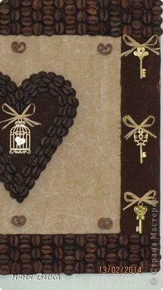 Здравствуйте мои дорогие мастера и мастерицы! Ко дню всех влюбленных успела доделать еще два панно с кофейными сердцами.  Вдохновлялась на странице Виктории Сокур. фото 5