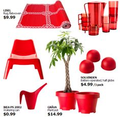 IKEA SUMMER 2014. RED INSPIRATION...