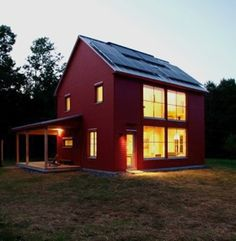 Passive house. Solar. 90% efficient to heat. And cute.