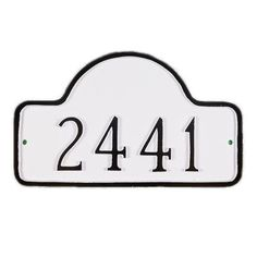 Montague Metal Products Lexington Small Arch Address Plaque Finish: Hunter Green / Silver, Mounting: Lawn