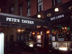 The Legendary Pete's Tavern, one of the oldest bars in New York City.