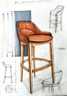 chair,стул – Niko b – Design Kit Design, Design Lab, Chair Design, Furniture Design, Furniture Sketches, Design Concepts, Furniture Layout, Interior Design Sketches, Industrial Design Sketch