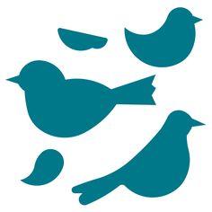 Ideas For Bird Silhouette Template Crafts Bird Silhouette Art, Silhouette Cameo, Cute Birds, Small Birds, Bird Outline, Bird Template, Bird Crafts, Bird Patterns, Bird Drawings