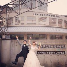 #母校 そして後半戦は母校でロケ撮影! 素晴らしく親切な教頭先生が案内して下さいました。 おかげでゆっくりとたくさん撮影出来ました。 先生、ありがとうございました! #結婚写真 #花嫁 #プレ花嫁 #結婚 #結婚式 #結婚準備 #婚約 #カメラマン #プロポーズ #前撮り #エンゲージ #写真家 #ブライダル #ゼクシィ #ブーケ #和装 #ウェディングドレス #ウェディングフォト #七五三 #お宮参り #記念写真 #ウェディング #weddingphoto #bumpdesign #バンプデザイン