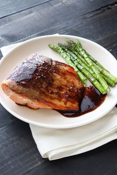 This balsamic glazed salmon recipe is ridiculously quick, easy, healthy, and tasty. It's the perfect weeknight meal!