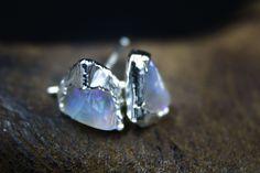 Raw Opal Earrings Opal Earrings, Opal Jewelry, Modern Bohemian, Boho Chic, Raw Opal, Rustic Jewelry, Raw Gemstones, Australian Opal, Opals