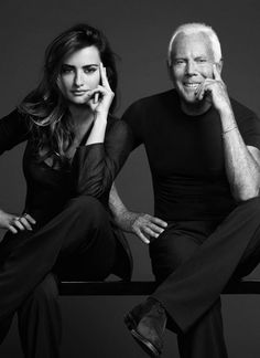 Penelope Cruz and Giorgio Armani