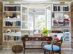 Tom Scheerer Decorates--great way to create the look of built-ins without the big budget!