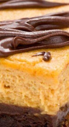 Cheesecake Brownie Bars, Pumpkin Cheesecake Recipes, Cereal Recipes, Pumpkin Dessert, Pumpkin Pie Spice, Savoury Cake, Original Recipe, Melting Chocolate, Clean Eating Snacks